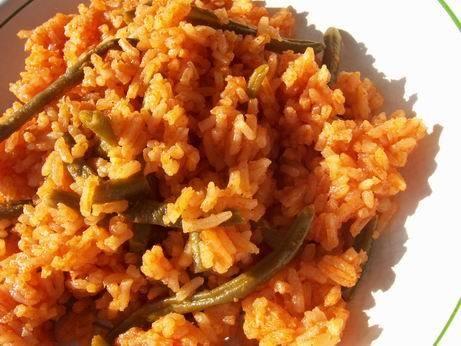 таири красный рис с зеленой фасолью персидский рис с зеленью рис с капустой и специями - 3