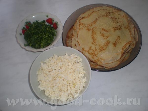 БЛИНЧИКИ С БРЫНЗОЙ Продукты для блинов: 3 яйца, 500 мл молока, 3 яйца, 300г муки, 1 ст