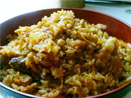 Мой плов из рисоварки На 1 мерный стаканчик риса (сорт Девзира): 70гр мяса 1луковица 1морковка спец...
