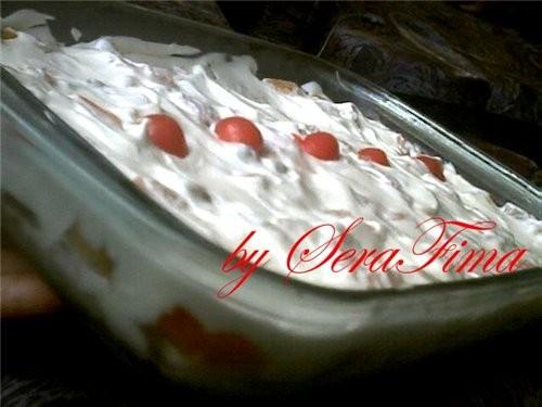 Вот ешё делала тортик Вот целиком а вот кусочек Девульки