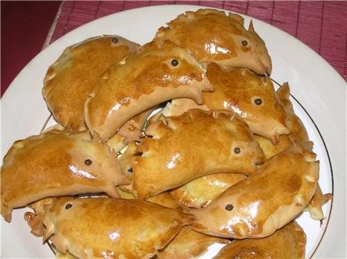 """Пирожки с рыбой """"Золотые рыбки"""""""