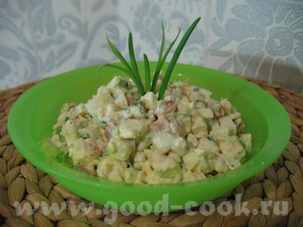 а вот и мой вариант Яичного салата от Lenuska интересный вкус - из-за горчицы наверное позже, усвои...