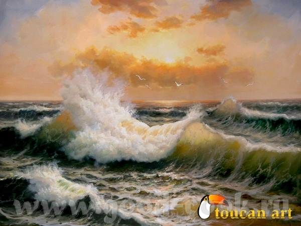 Вот так море рисует xудожник Walfrido Garcia A вот так xудожница Roy Tabora Mоре у Toucan Art - 3