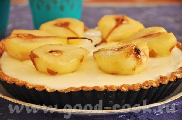 обычный в приготовлении и поедании тарт- основа из печенья, творожно сливочный крем и фрутковое доп...
