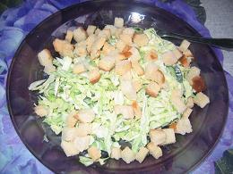 у меня тоже блинчики салат из свежей капусты,муж любит туда сухарики с чеснаком добавлять,пришлось... - 2