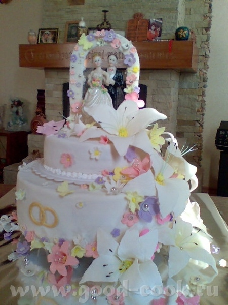 Девочки,мой первй свадебный торт