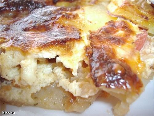 """запеканка картофельная с грибами и брынзой рецепт из израильского журнала """"МАМА-инфо"""" 4 отварные ка..."""