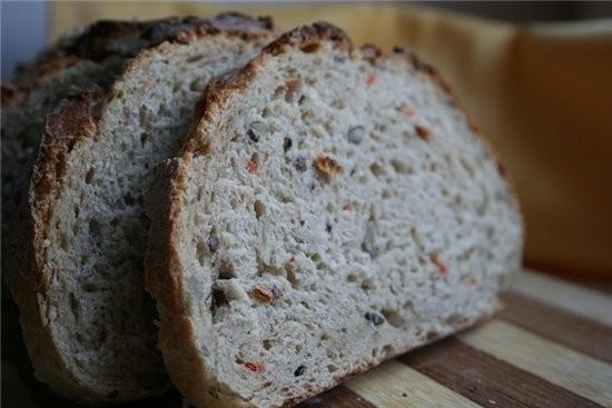 ХЛЕБ «ЗЛАКОВЫЙ» -350 гр пшеничной муки -30 гр ржаной -40 гр хлопьев «4 злака» или геркулесовые