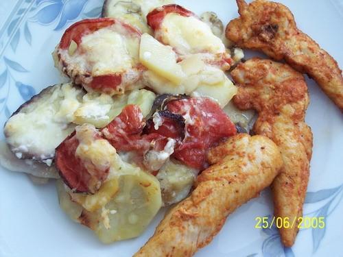 На обед делала овощную запеканку от , спасибо Оксана, к запеканке куриную грудку ещё зделала и к ча...