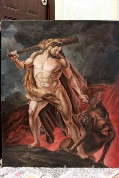 Геракл выводит Цербера из приисподни