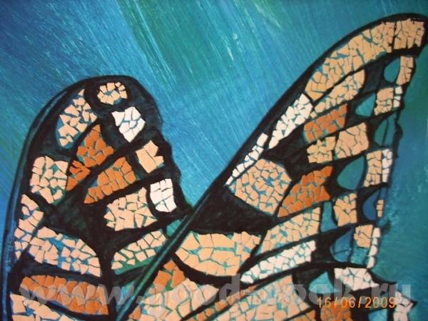 Дорогушечки, а вы поняли , что крылья у бабочки из яичной скорлупы