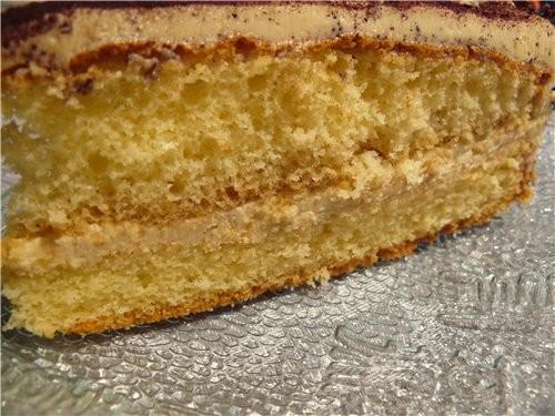 Торт «Кофейно-лимонный» Для теста: 4 яйца125 г сахара 4 ст