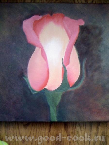 Показываю мои розы, рисую триптих - 4