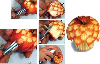 Ананасы из яблок Можно, конечно, и обычный ананас взять - 2