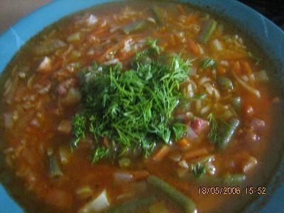 Принесла большущее спасибо за Рисовый суп с фасолью Очень вкусно
