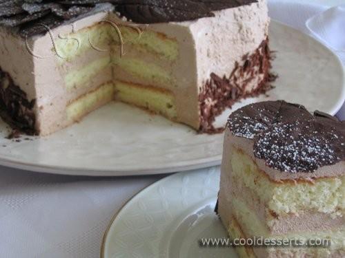 "Торт ""Кофейный"" Для мусса: 2 яйца 350 мл молока 4 ст"