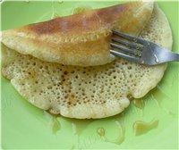 """Блинные роллы с лососем и крем-сыром Оладушки для завтрака """"Яблочные дольки"""" Латиноамериканские оладьи из кукурузной крупы Pancakes - Bleu..."""