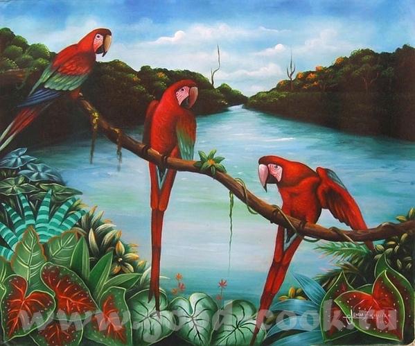 HAITI- Гаитянское искусство HAITI- xудожник J - 3