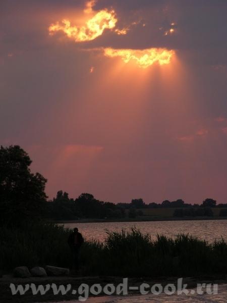 Ещё небо, облака, пламя заходящего солнца - 7