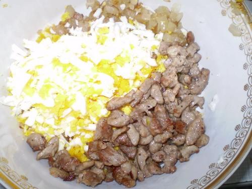 Конвертики ассорти Начинка: 50 г сала 1 большая луковица 1 б мяса криля 200 г мяса 2 вареных яйца с... - 5