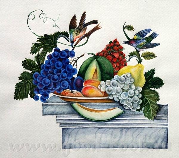 кселена я читала что для кухни, лучше всего натюрморт делать с персиками апельсинами, ярких цветов,... - 7
