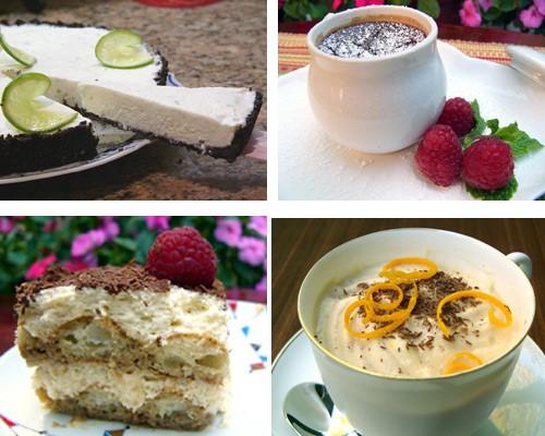 Блюда из сыра и творогa и другие молочные продукты Мусс c Рокфором и грушевым пюре Папайя с сыром к... - 2