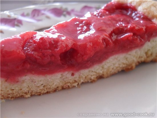 Клубничный пирог - Песочное тесто на сладкий пирог - клубника 300 гр - 2