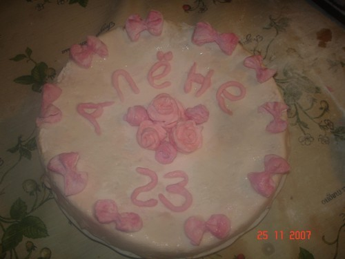 Это мой первый заказной торт: Птичье молоко-подскажите как сделать так, чтобы глазурь растеклась, а... - 6