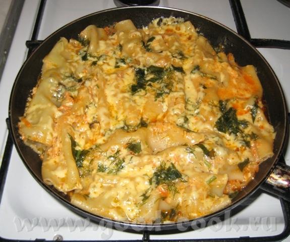 Каннелони с мясной начинкой Рецепт навеян Макаронами, жареными на сковородке от Stern Пачка каннело...