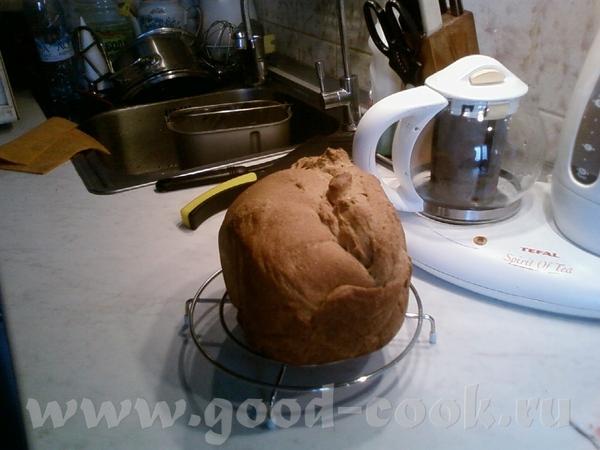 Пекла сегодня очередной раз хлеб из цельнозерновой муки ЗА, что у Насти покупала