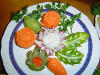 вот такие цветочки из моркови - 3