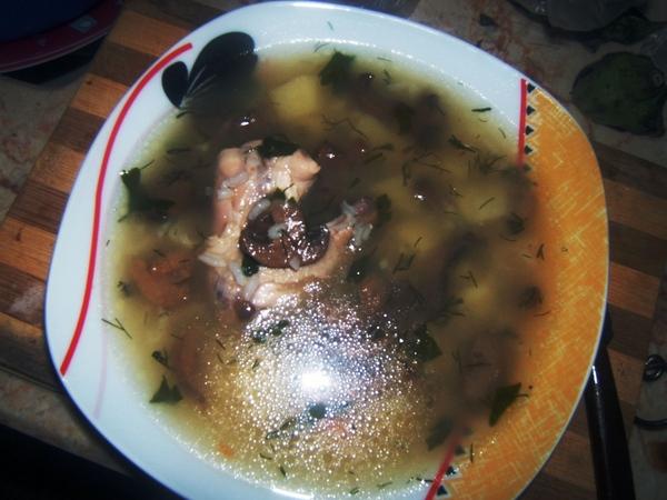 Суп с грибами для тех кто не любит лук