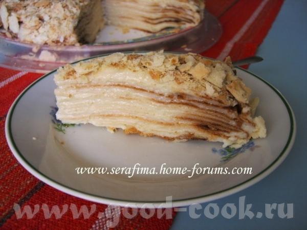 торт Наполеон Медовик со сметанным кремом
