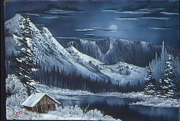 Bob Ross Winter Nocturn на НАРОДЕ Спасибо за Боба