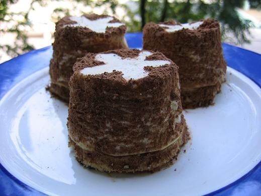 такие мини чиз-кейки,я не в восторге ,правда брала отвешенную сметану,попробую с маскарпоне если не...