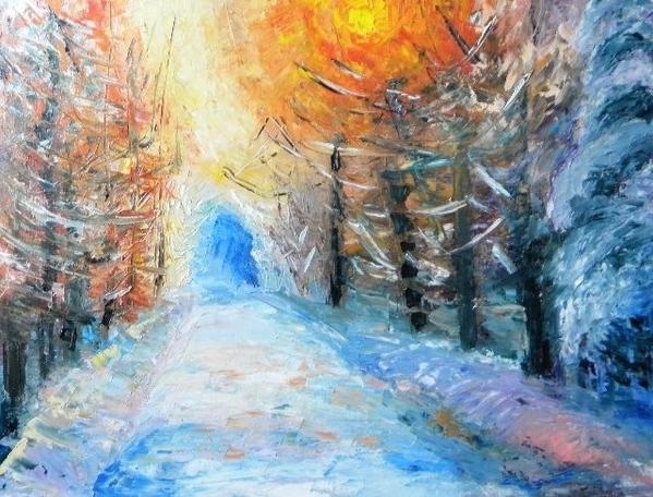 ПРОШУ ПРОЩЕНИЯ ЧТО С ОПОЗДАНИЕМ, ВАМ ПОКАЗЫВАЮ РАБОТЫ ЗИМНИЙ ВЕРНИСАЖ Зима – это сказочное время го... - 3
