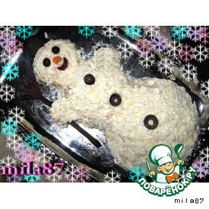 """Всё тот же сайт: Салат """"Волшебный снеговик"""" Мимоза в новогоднем стиле"""