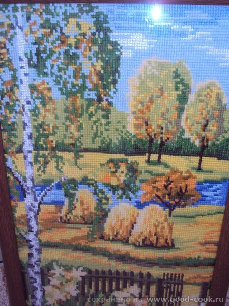 вышивка осень