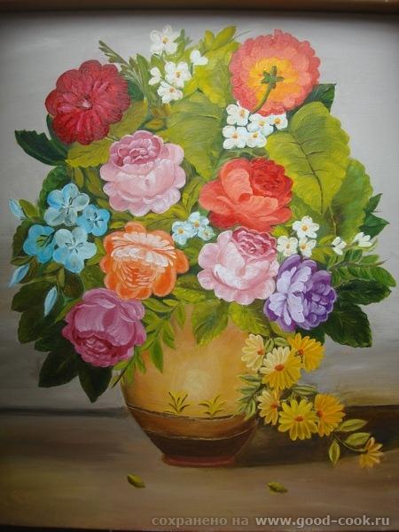 Цветы в вазе(фантазия)