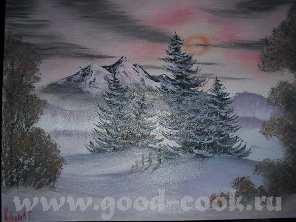 Моя первая картина маслом 40 х 50 В общем так у меня не получилось передать фотиком нужный цвет