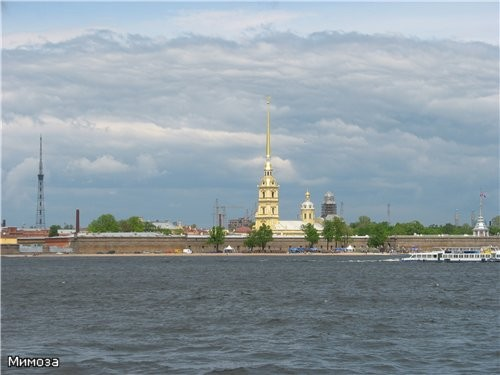 А это панорама Петропавловской крепости от Зимнего дворца (я думаю, про Петропавловскую крепость ра...