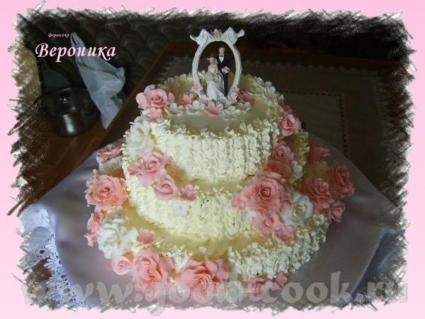 Вот и мой дебют со свадебным тортом - 2
