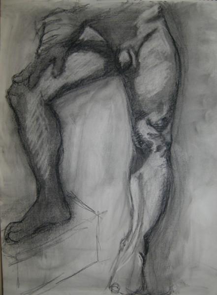 Ща я вам навалю своих рисунков Figure drawing типа надо было вписать в лист, чтобы фигура касалась... - 6