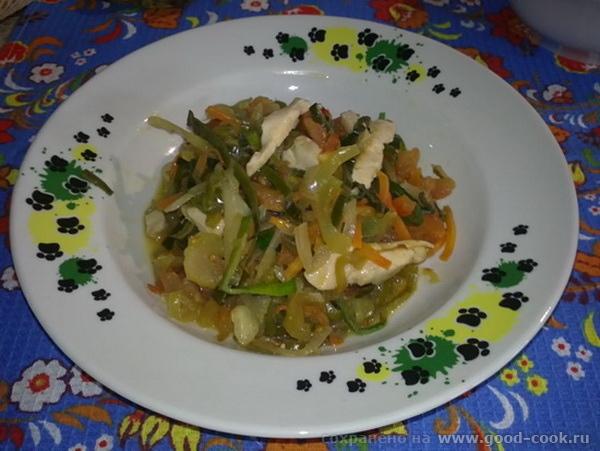 овощи с куриным филе