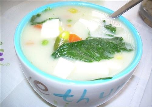 Китайский суп со Шпинатом и мягким Тофу - 2
