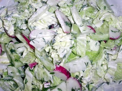 Сегодня у нас на обед зеленый борщ картофельнички овощной салатик - 3