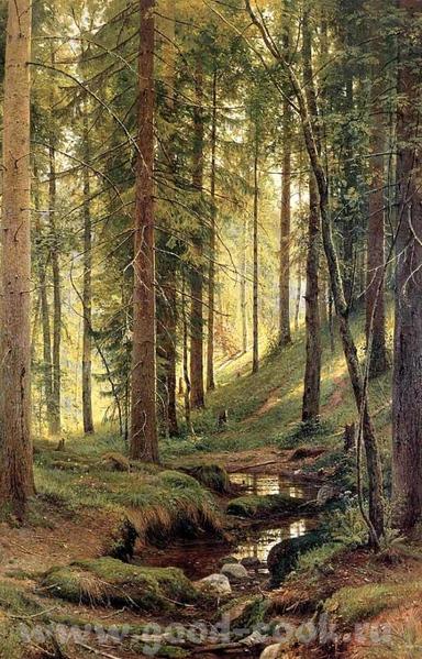 Картины Шишкина, которые находятся в Киевском Музее Русского Искусства на севере диком ручей в лесу... - 2