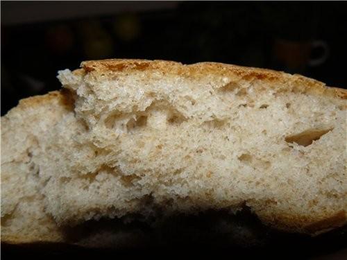 По быстрому намешала сегодня тесто с остатками белой муки