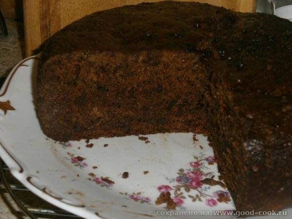 Финиковый пирог с шоколадом