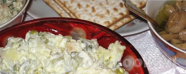 Фаршированные яйца Оливье Бабка Бабка с мясом - 2